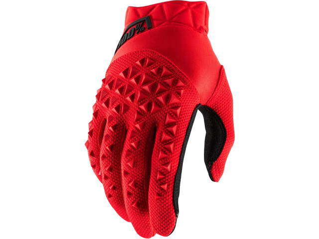 100% Airmatic Guantes, red/black